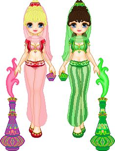 I Dream of Jeannie and Sister by ~starfiregal92 on deviantART