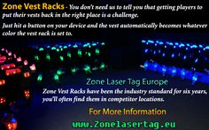 Zone Laser Tag vests are multilayer design with clips around the front is more…