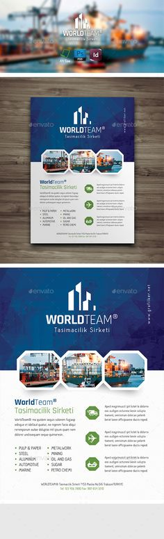 International Flyer Templates Fully layered INDD Fully layered PSD 300 Dpi, CMYK IDML format open Indesign CS4 or later Completely editable, print ready Text/Font or Color can be altered as needed All Image are in vector format, so can customise easily Photos are not included in the file https://www.behance.net/gallery/13212059/Hallo-Sans-Free-typeface http://www.google.com/fonts/specimen/Rajdhani Help.txt file