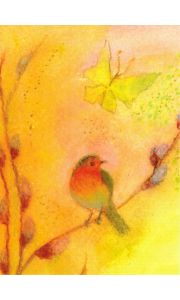 Postkarte - Erster Frühlingsgruss - Raffael Verlag Schweiz - Angela Koconda