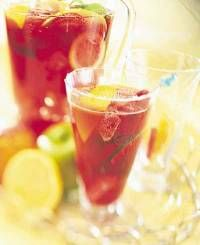 Alcohol-free sangria...so the kids can enjoy it too!
