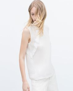 Image 3 of T-SHIRT WILL FRILL ON SLEEVES from Zara