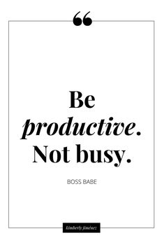 I absolutely need to think this way. To say I got my workout in, kids to their activities, daughter to hair appt, shopping done, food prepared for get together was me being productive and not just busy for some reason makes me feel better about my day!