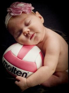 Cutest volleyball baby ever! Picture by www.oneeyeshutterfly.com