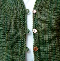 sideways knit (mythos) and crocheted buttonband by ingbe