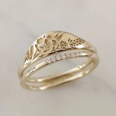 Ring Set, Alternative Wedding, Jewelry Stores, Gold Rings, Dream Wedding, Gems, Wedding Rings, Rose Gold, Accessories