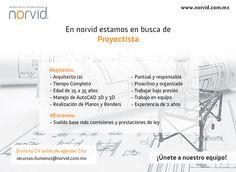 En Norvid...¡Te estamos buscando! #proyectista #arquitecto #BolsaDeTrabajo #Vacantes #Vacante #Empleo ¿Te interesa o conoces a alguien que le pueda interesar? ¡Contáctanos! 56 15 44 88 recursos.humanos@norvid.com.mx www.norvid.com.mx/bolsa-de-trabajo