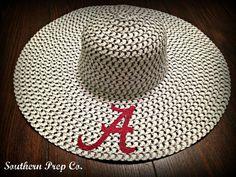Alabama Houndstooth Custom Monogrammed Wide Brim Hat by SouthernPrepCo, $24.00