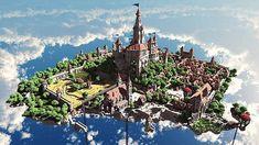 Terados Castle Minecraft village ideas