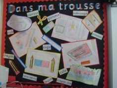 In my pencil case - French classroom display photo - Photo gallery - SparkleBox