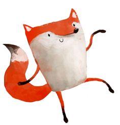 Delightful little fox illustration by Monika Suska.