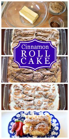 Amazing recipe for Cinnamon Roll Cake that makes enough to feed a crowd!