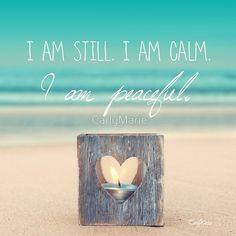 """I am PEACEFUL"" Greeting Cards & Postcards by CarlyMarie 