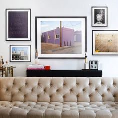 Inspiration for White Walls. The team at Homepolish shares design inspiration and tips on selecting the perfect pieces for any space. White Wall Art, White Walls, Franklin Homes, Wall Art For Sale, Living Room Pictures, Gallery Wall, Design Inspiration, Buy Art, Interior
