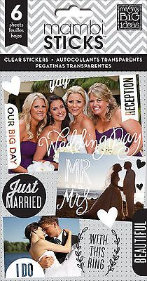 MMBI Pocket Pages OUR WEDDING DAY Clear Stickers scrapbooking (6) SHEETS