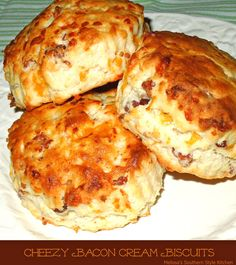Cheezy Bacon Cream Biscuits - These simple cheese and bacon cream biscuits are incredibly easy to make. They are most handy when my family wants biscuits in a snap.
