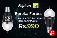 Flipkart is offering 29% off on Eureka Forbes Clean Air GLO Portable Room Air Purifier Just at Rs.990. Built-in Ionizer, This air purifier comes with a built-in ionizer that releases negative ions and curbs the pollutants. Eliminate smoke, odour and airborne allergens and create a healthy indoor environment with this air purifier.   http://www.paisebachaoindia.com/eureka-forbes-clean-air-glo-portable-room-air-purifier-just-at-rs-990-flipkart/