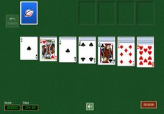 Klondike Solitaire game for all platforms: desktops, iPhone, Android, Windows phone. #Play #online: http://www.rubl.com/games/solitaire/ A player with the best score in #Klondike #Solitaire wins money tournament