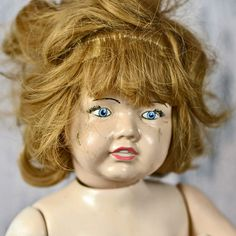 My wicked wicked HILDA.... antique doll... by CoolVintage on Etsy, $59.50