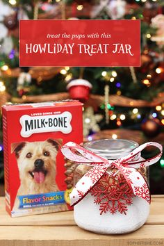 Holiday Dog Treat Jar via @sheenatatum