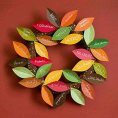.Fall wreath - Thanksgiving project, door decor