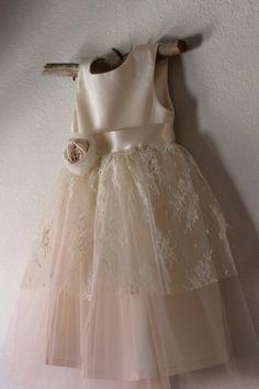La la Lace..Vintage style organic cotton flower by OliveandFern, $109.00