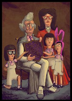 Portrait i did from the Bob's Burgers Thanksgiving episode The Fischoeders Bobs Burgers Memes, Tina Belcher, Cartoon Tv Shows, Cartoon Characters, Famous Cartoons, Bob S, Spirit Animal, Favorite Tv Shows, Favorite Things