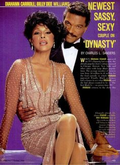 Ebony magazine, October 1984 — Diahann Carroll as 'Dominique Deveraux' & Billy Dee Williams as 'Brady Lloyd' in Dynasty Jet Magazine, Black Magazine, My Black Is Beautiful, Beautiful People, Beautiful Women, Billy Dee Williams, Diahann Carroll, Black Celebrities, Celebs