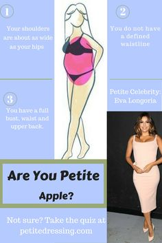 Take this petite fashion quiz to find out your body type, learn petite style tip. - Take this petite fashion quiz to find out your body type, learn petite style tips from petite celeb - Apple Body Shape Outfits, Apple Shape Fashion, Dresses For Apple Shape, Apple Body Type, Apple Body Shapes, Petite Fashion Tips, Petite Outfits, Curvy Petite Fashion, Fashion Bloggers