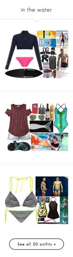 """""""in the water"""" by silent-killer ❤ liked on Polyvore featuring Under Armour, Neutrogena, Payne, Orlebar Brown, Heidi Klein, NIKE, Birkenstock, Billabong, GoPro and Accessorize"""