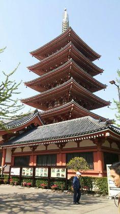日本淺草 五重塔