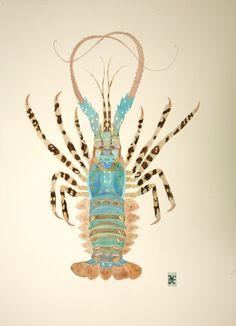 Blue Lobster, illustration