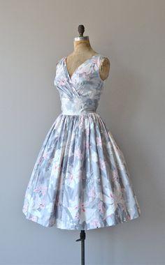 Parc de Bercy dress vintage 1950s cotton dress