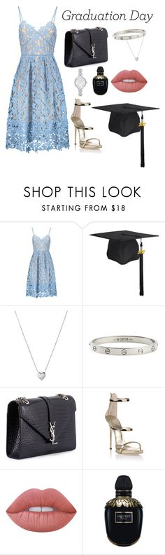 """Untitled #260"" by pehpalad ❤ liked on Polyvore featuring Links of London, Cartier, Yves Saint Laurent, Giuseppe Zanotti, Lime Crime, Alexander McQueen and Kate Spade"
