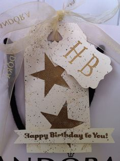 Celebrating in style using Stampin Up simply stars stamp set & gold & dazzling diamonds embossing powder to create an 18th birthday gift tag http://vintage-celebrations.blogspot.co.uk/2013/09/stampin-up-simply-stars-18th-birthday.html