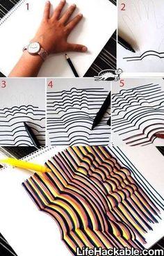 desenho criativo de mãos