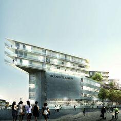 """BIG Transitlager in Basel   3D-DREAMING """"Architecture from a digital point of view"""""""