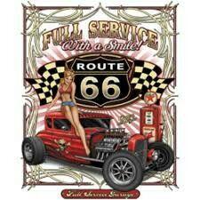 Damen TANK TOP Hot Rod Car WHISKEY DICKS Rockabilly US USA Kustom Vintage 16318