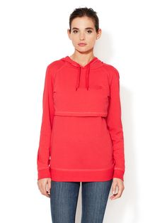 Boob Design B-Warmer Maternity/Nursing Hoodie Red