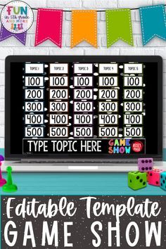 Make ANY topic fun to review with this editable game show! You can create a game show for any topic with these resource on PowerPoint. You will be able to make 25 questions and answers! Your students… More