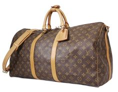 Louis Vuitton Monogram Keepall Bandouliere 55 Duffle Bag