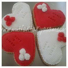 Nişan kurabiyesi / Kalp kurabiye