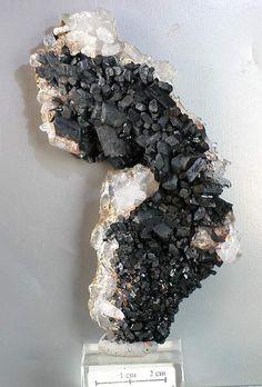 Babingtonite on Quartz - China - Rockshop.cz - Fine Minerals,Moldavites and Jewelry Rocks And Minerals, Healing Stones, Stone Jewelry, Silver Bracelets, Jewelry Shop, Unique Gifts, Quartz, China, Crystals