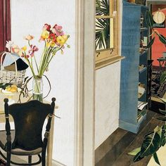 I particularly like the hidden aspects of this woodblock print. Contemporary Australian Artists, Woodblock Print, Flower Vases, Painting On Wood, Margaret Preston, Art Deco, Art Interiors, Aussies, Figurative