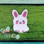 Bunnie Feltie ITH Embroidery Design 4x4 hoop (and larger)