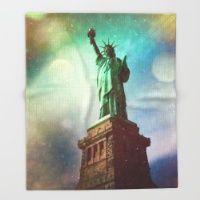 #Society6 #art #decor #ThrowBlankets The Statue Of...