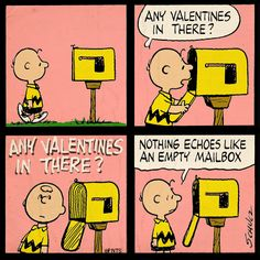 Charlie Brown checks the mail.