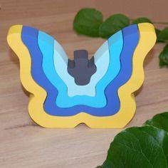 """Puzzle enfant en bois """"papillon"""" - fait à la main"""