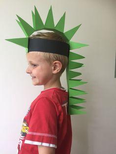 dino hoed zelf maken, dinosaurus hoed, hoed van papier dino, papieren dino hoed, dino pet