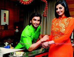 Ranveer Singh with his sister.